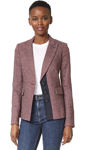 Veronica Beard Sterling Placket Jacket In Rose