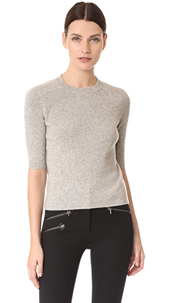Veronica Beard Cyprus Cashmere Sweater - Grey