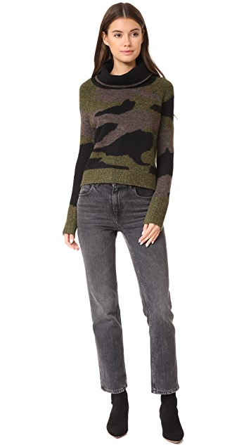 Veronica Beard Davis Camo Sweater