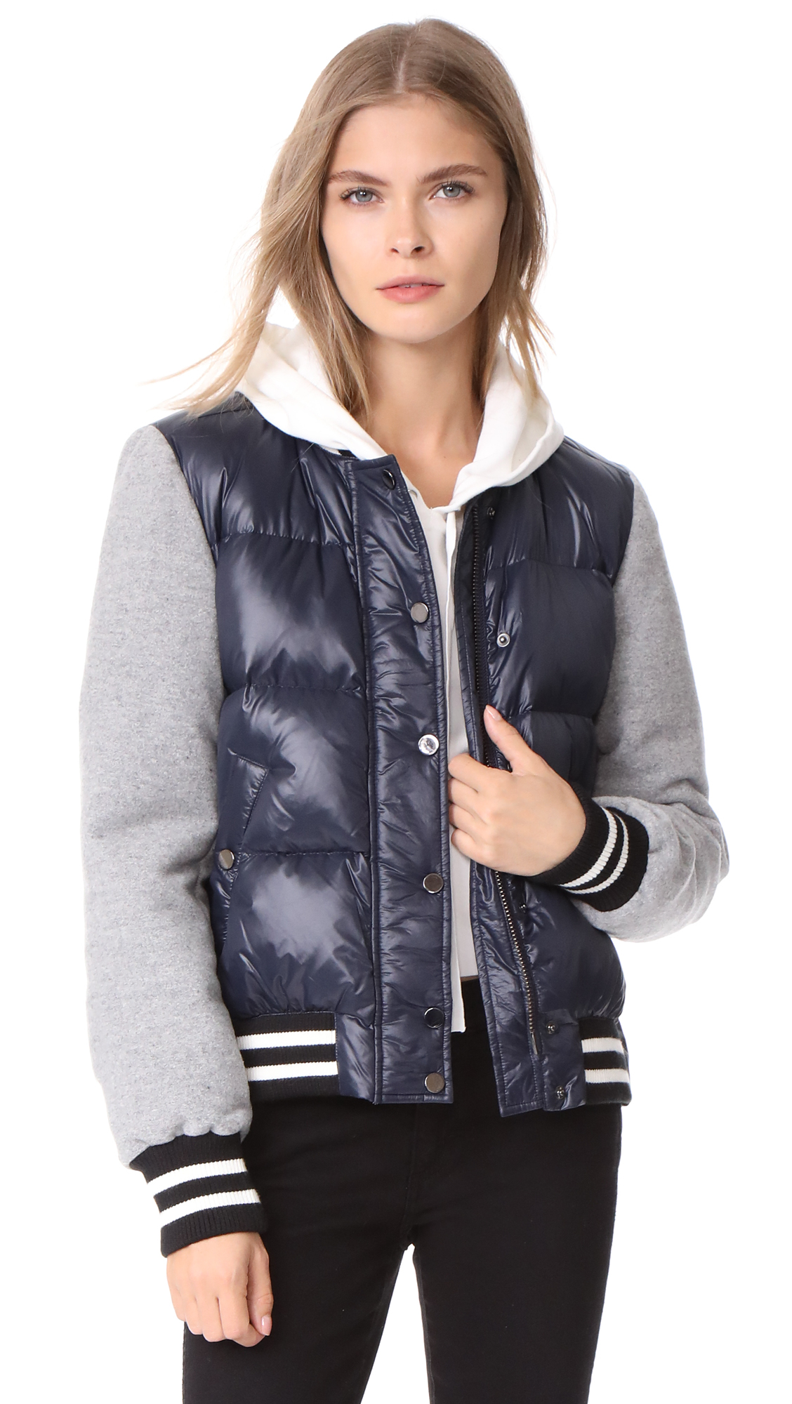 Veronica Beard Lennon Swing Puffer Jacket - Navy