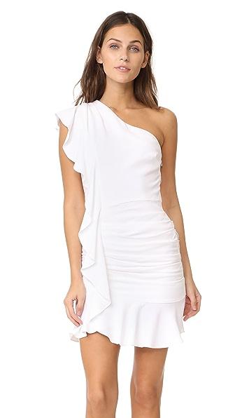 Veronica Beard Kingston Asymmetrical Ruffle Mini Dress