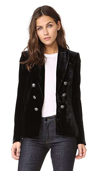Veronica Beard Briar Double Breasted Jacket In Black