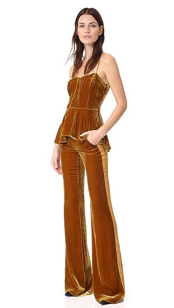 Veronica Beard Ramsey Wide Leg Tux Pants
