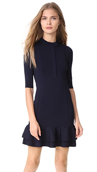 Veronica Beard Tiered Utility Dress - Navy