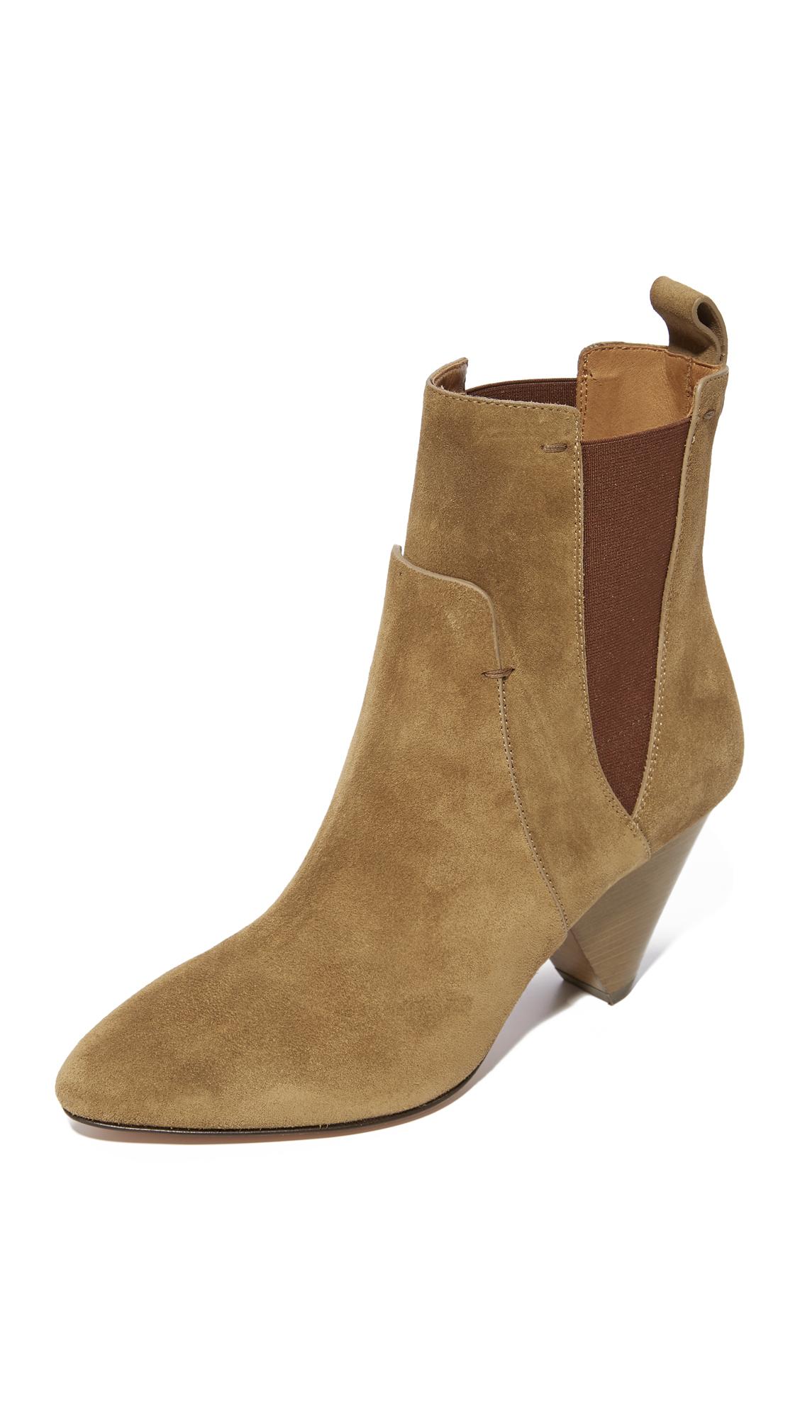 Veronica Beard Landon Heel Booties - Khaki