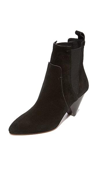 Veronica Beard Landon Heel Booties - Black