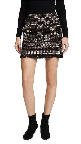 Veronica Beard Margot Skirt In Black/White/Gold