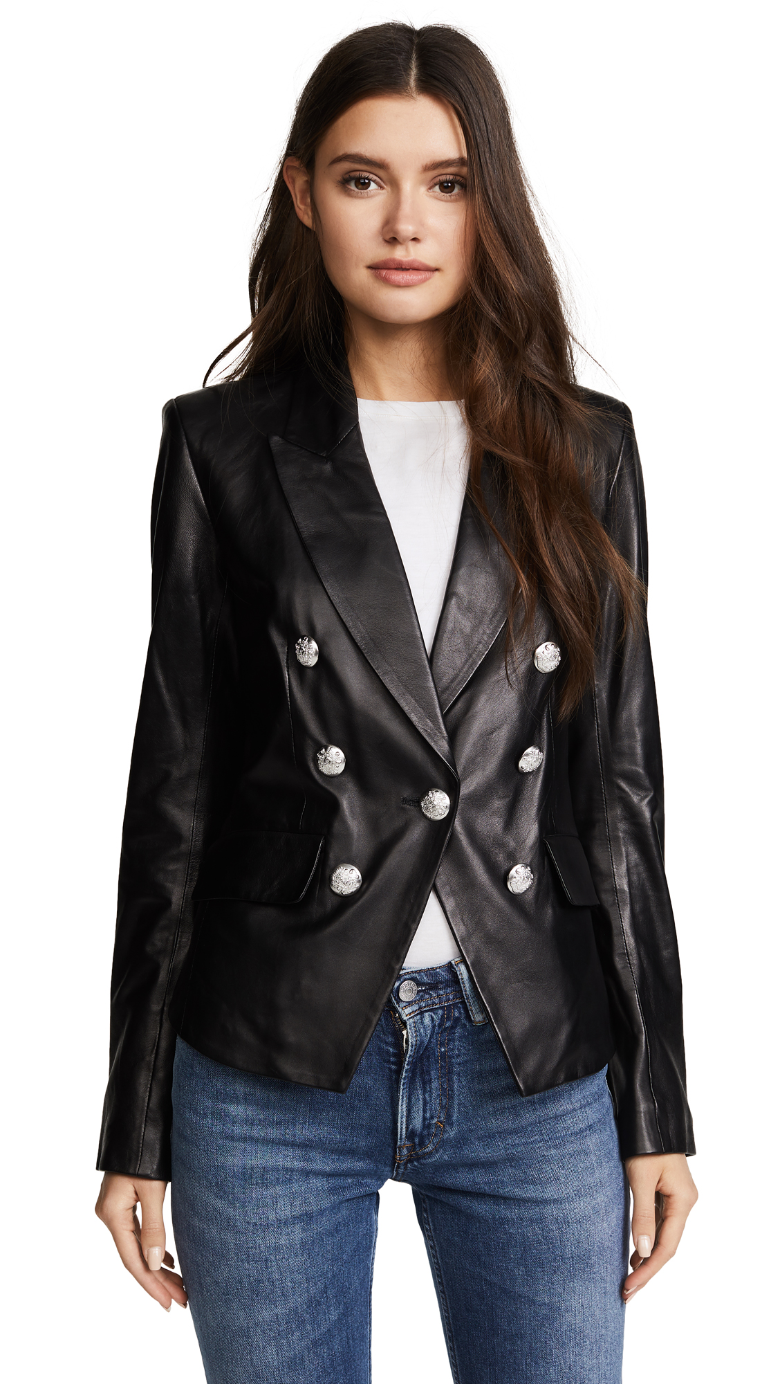 Veronica Beard Cooke Leather Jacket In Black
