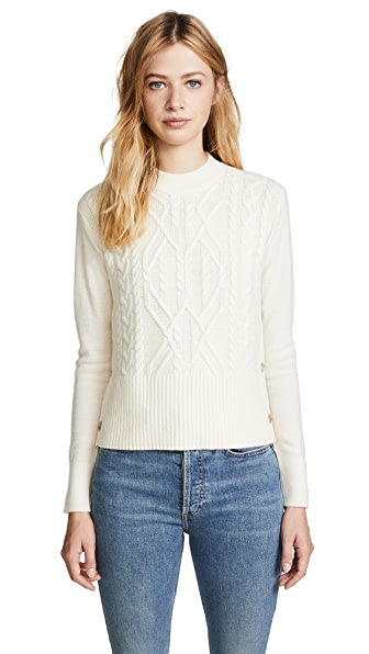 Veronica Beard Kenna Sweater In Ivory