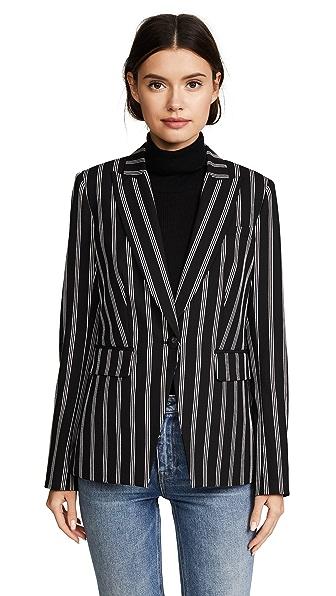 Veronica Beard Petra Jacket In Black/White