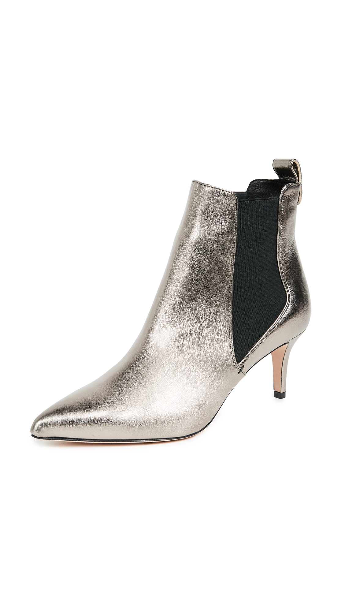 Veronica Beard Parker Chelsea Booties - Platinum