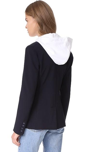 Veronica Beard Scuba Jacket with White Hoodie Dickey