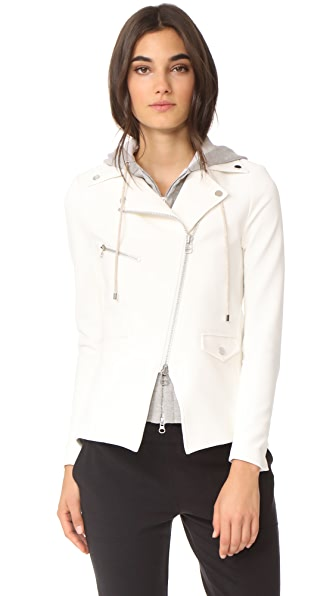 Veronica Beard Scuba Hadley Jacket with Grey Dickey In White/Grey