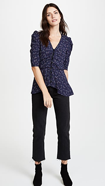 Veronica Beard Hayden V Neck Blouse