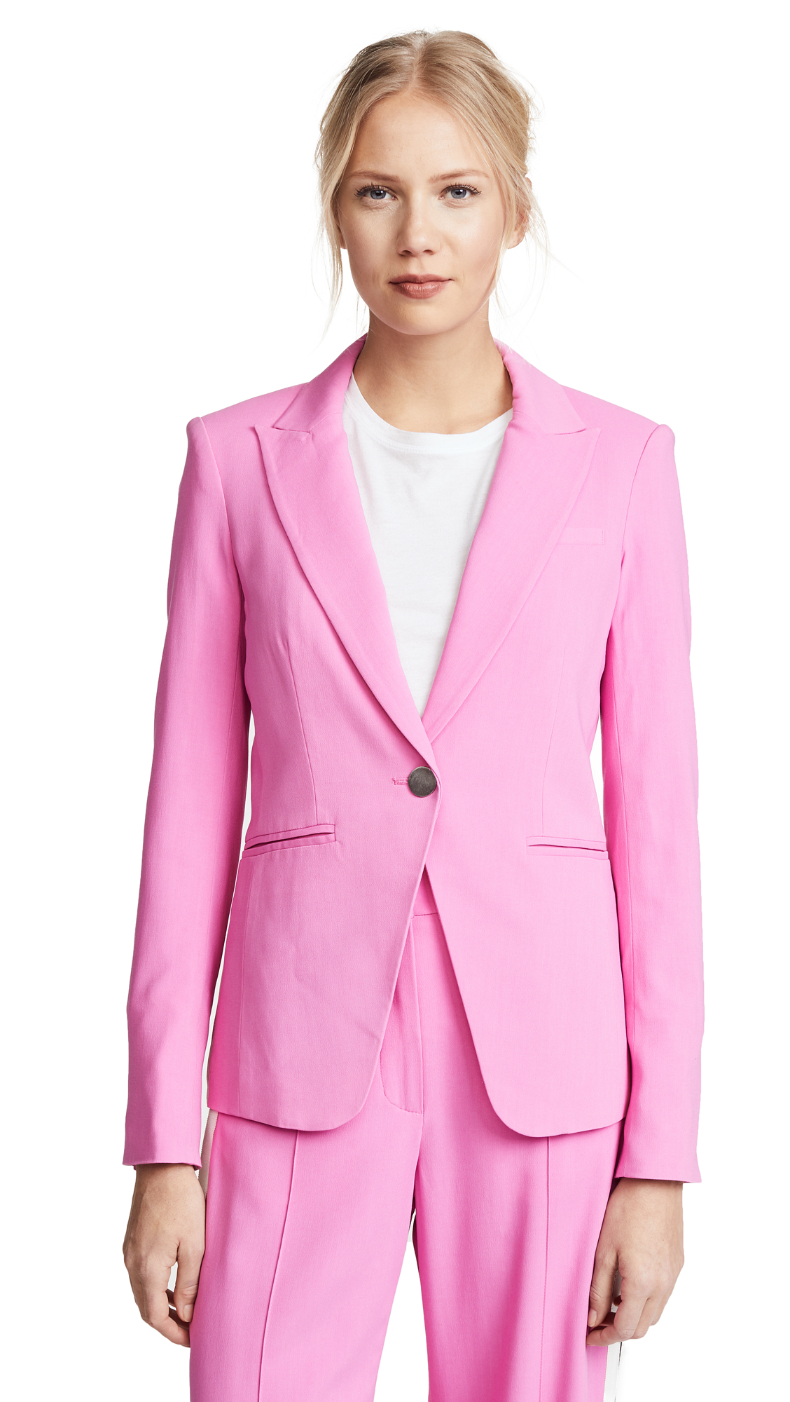 Veronica Beard Simone Dickey Jacket In Light Fuchsia Pink