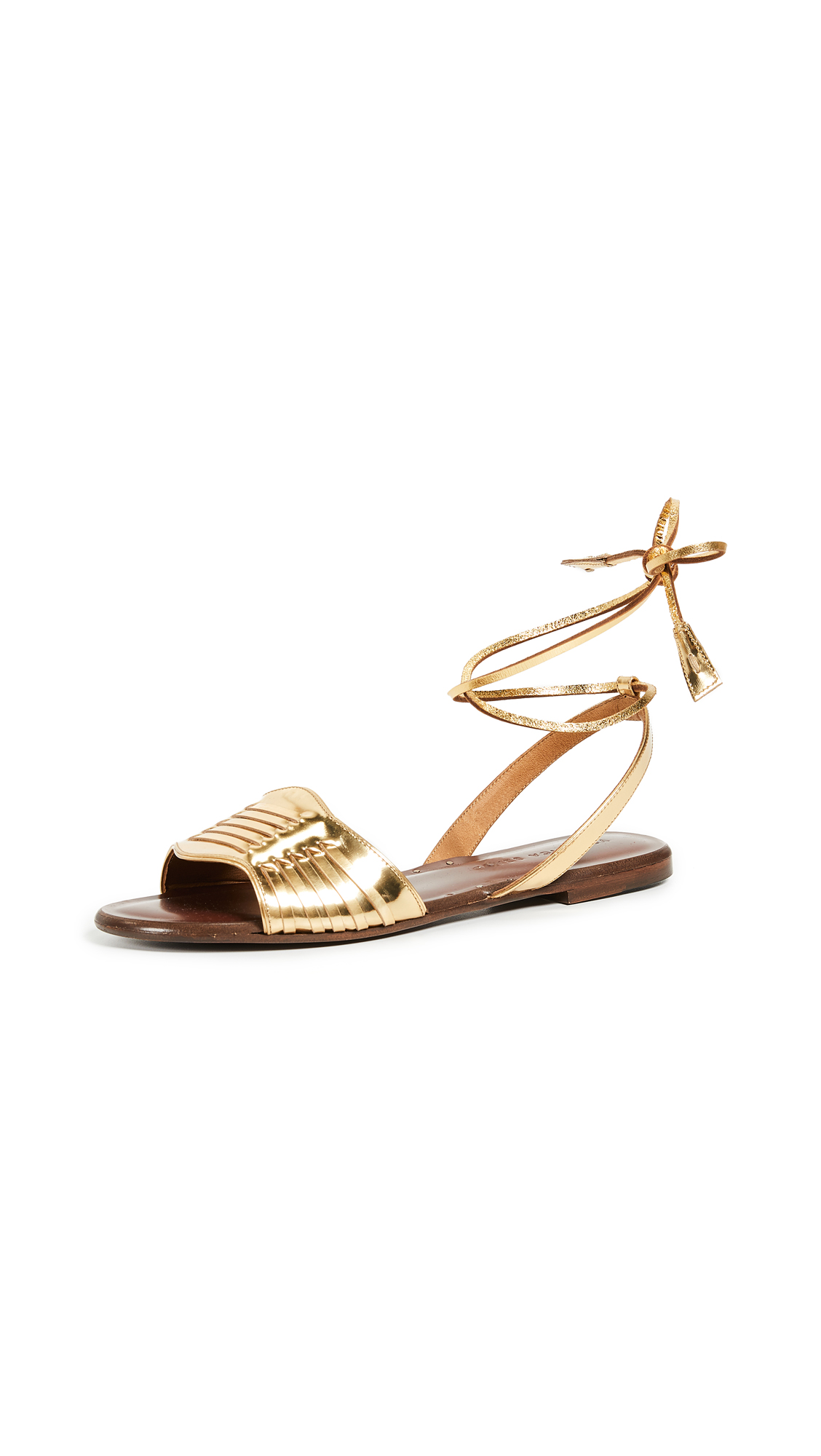 Veronica Beard Fawn Tie Sandals