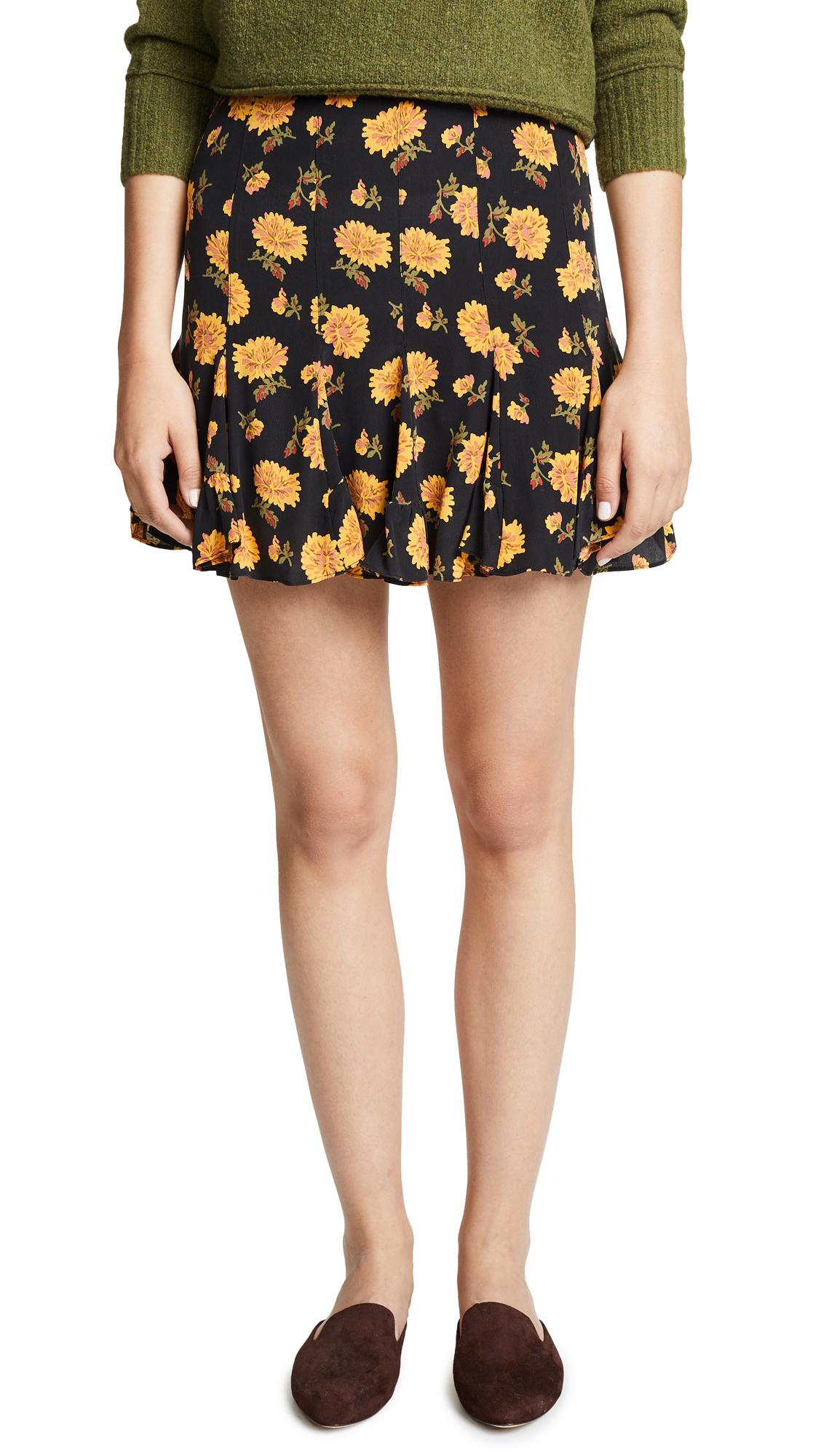 Veronica Beard Weller Skirt In Black Multi