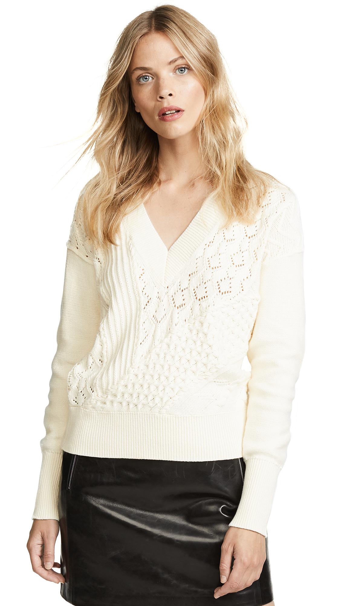 Veronica Beard Dessa Sweater In Ivory