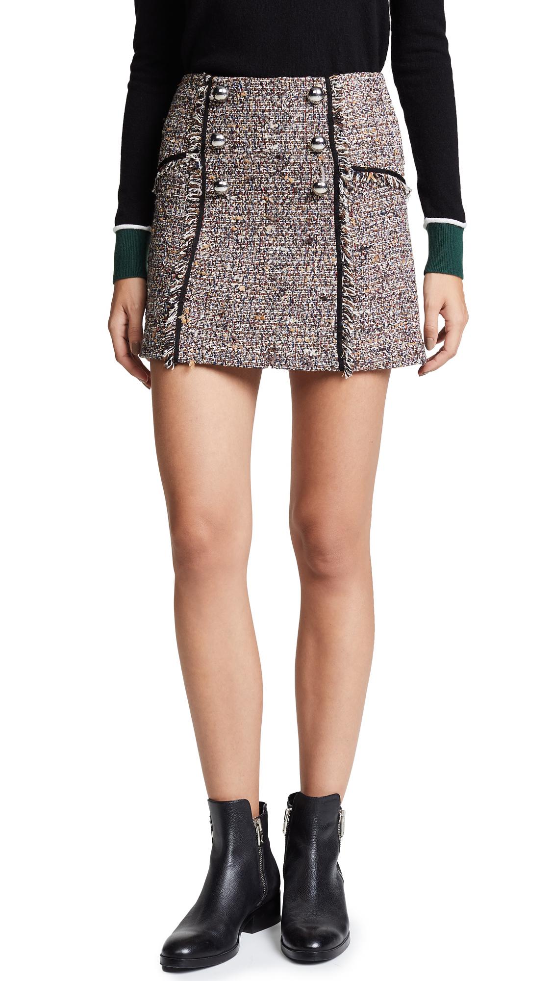Veronica Beard Starck Skirt - Brown Multi