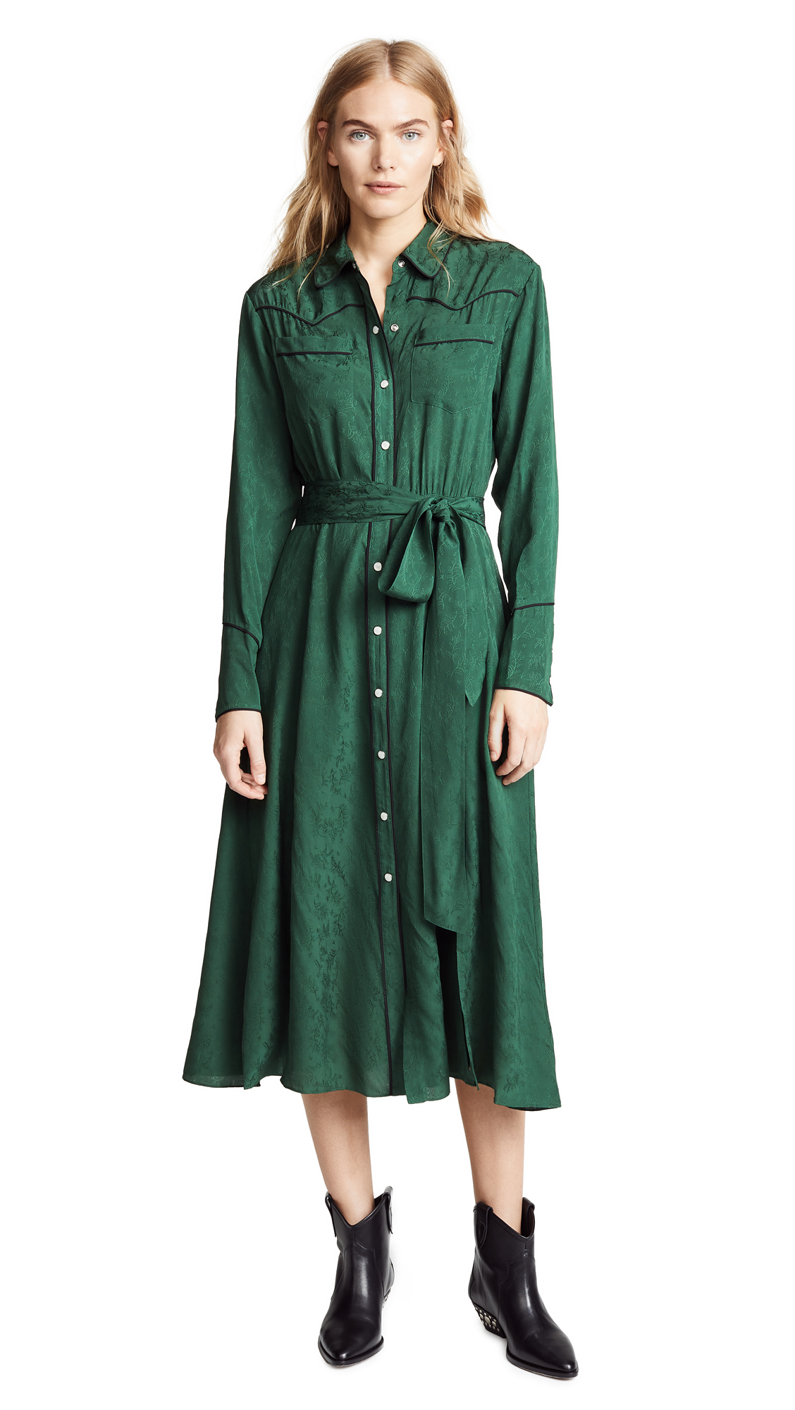 Veronica Beard Spur Dress In Green
