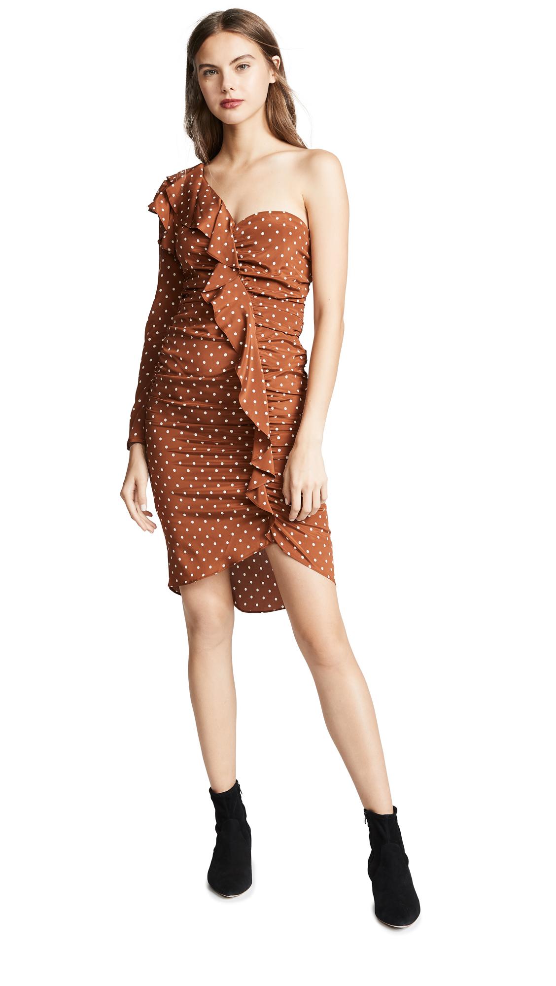 Veronica Beard Leona Dress - Bronze/Ivory