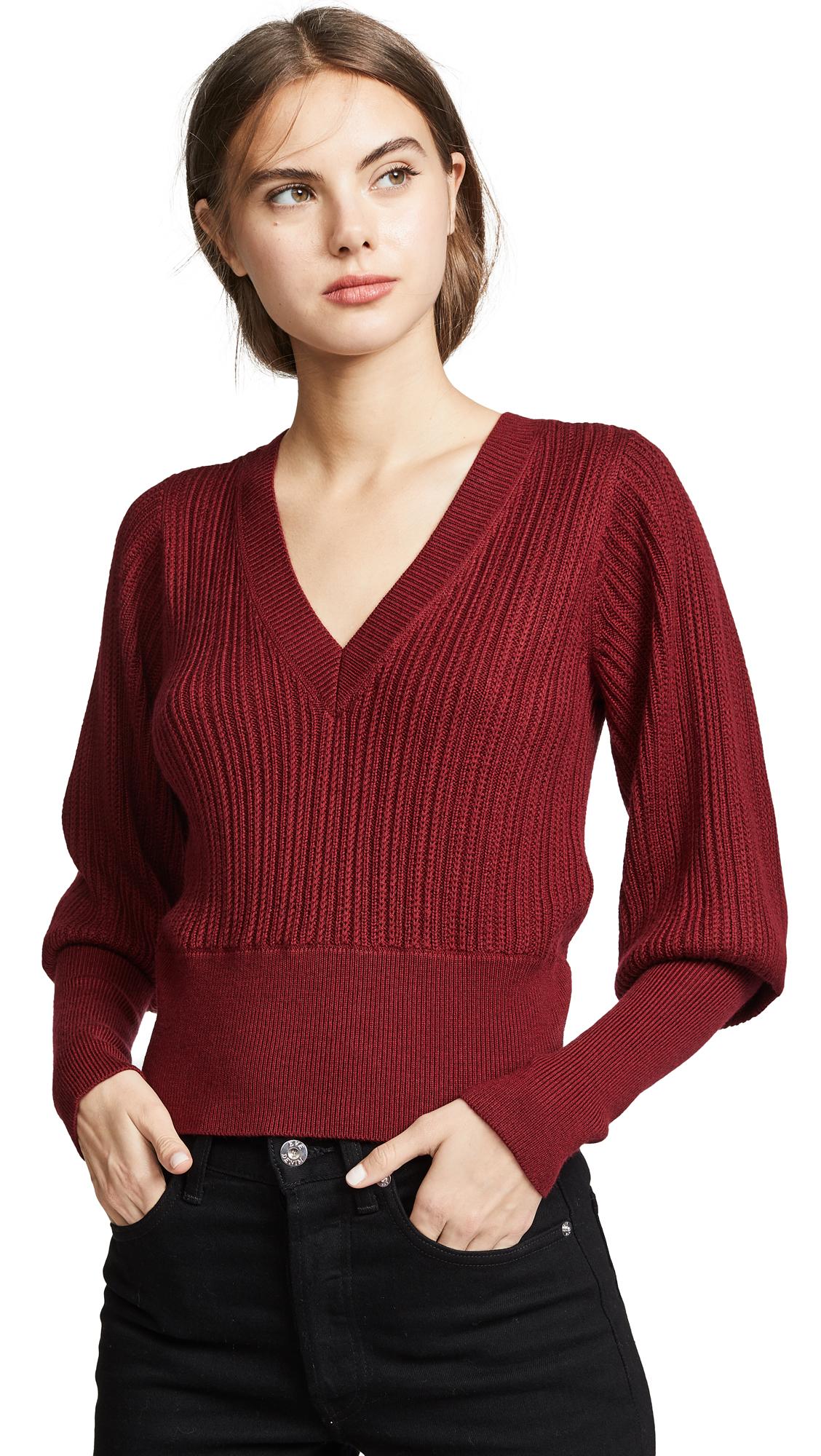 Veronica Beard Esme Sweater In Red Melange