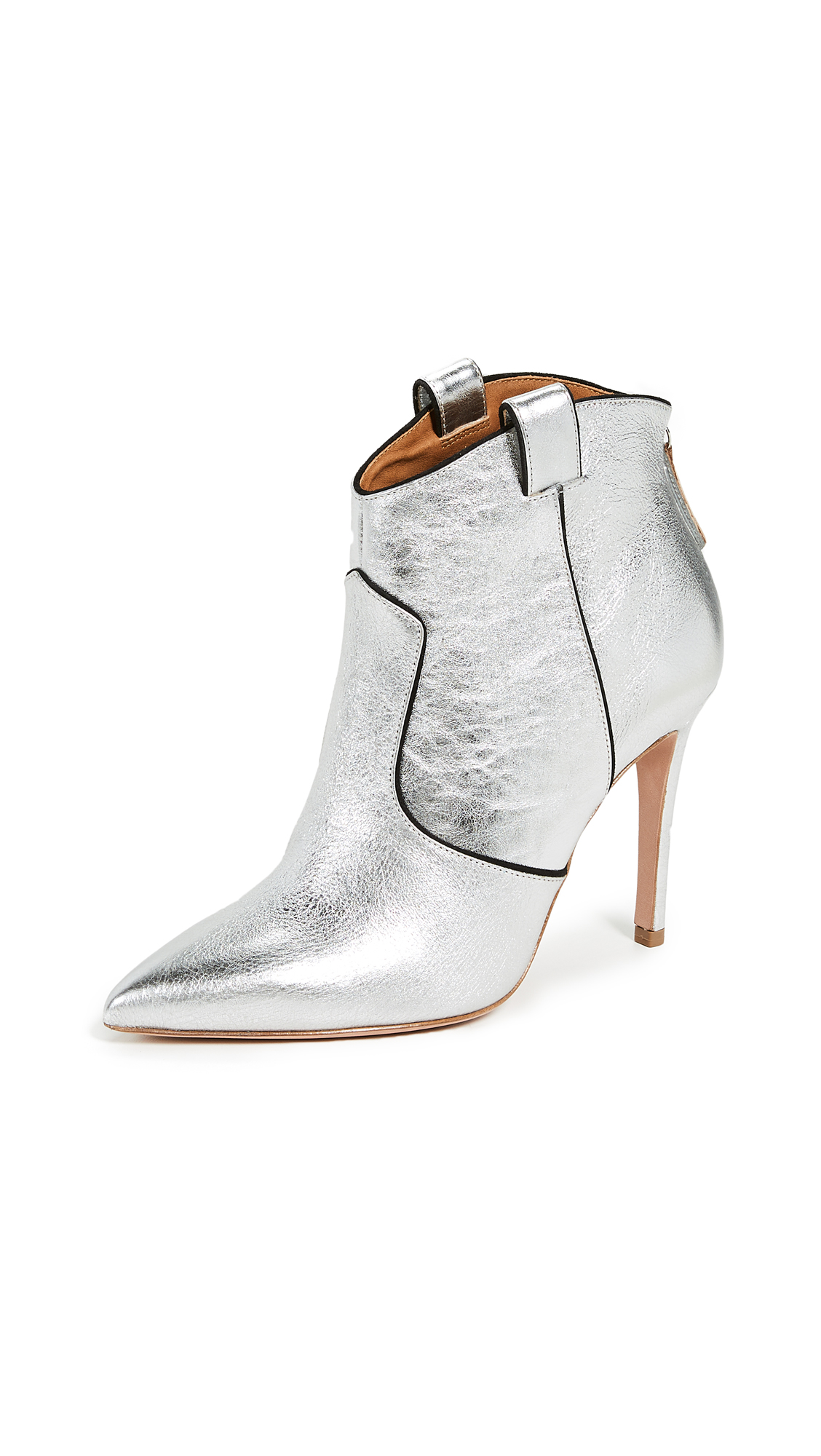 Veronica Beard Loretta Booties - Silver/Black