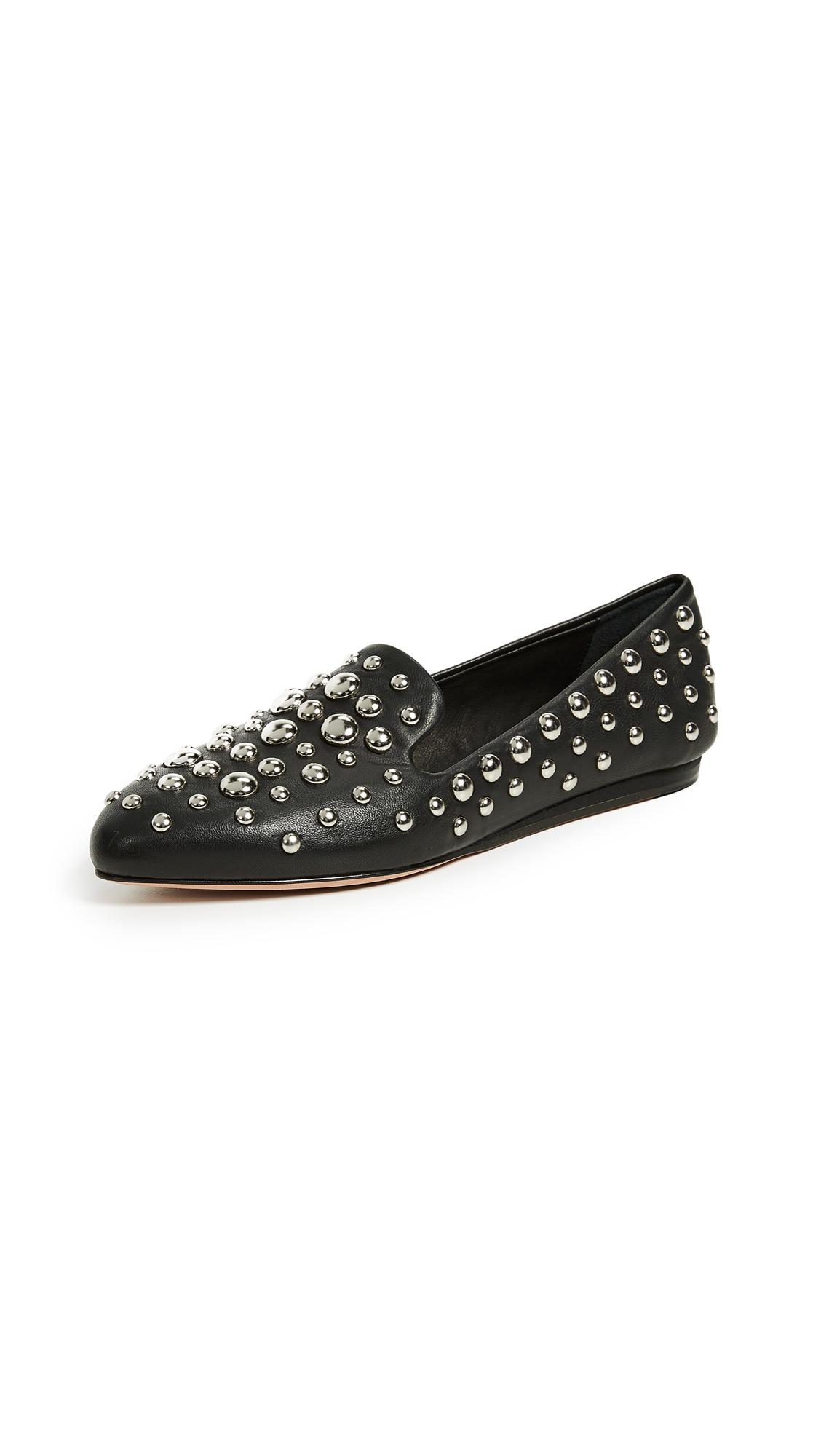 Veronica Beard Griffin Flats - Black/Silver