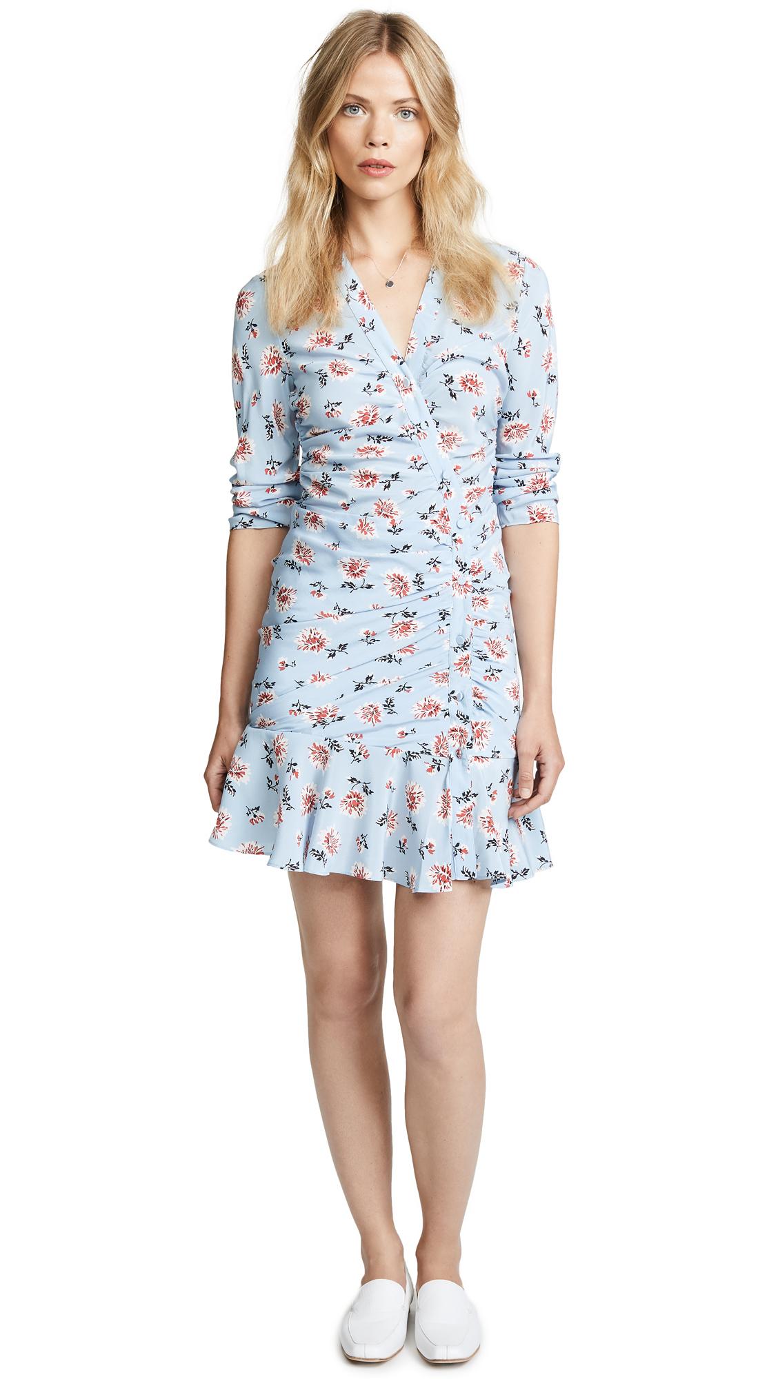 Veronica Beard Rowe Dress In Sky Blue Multi