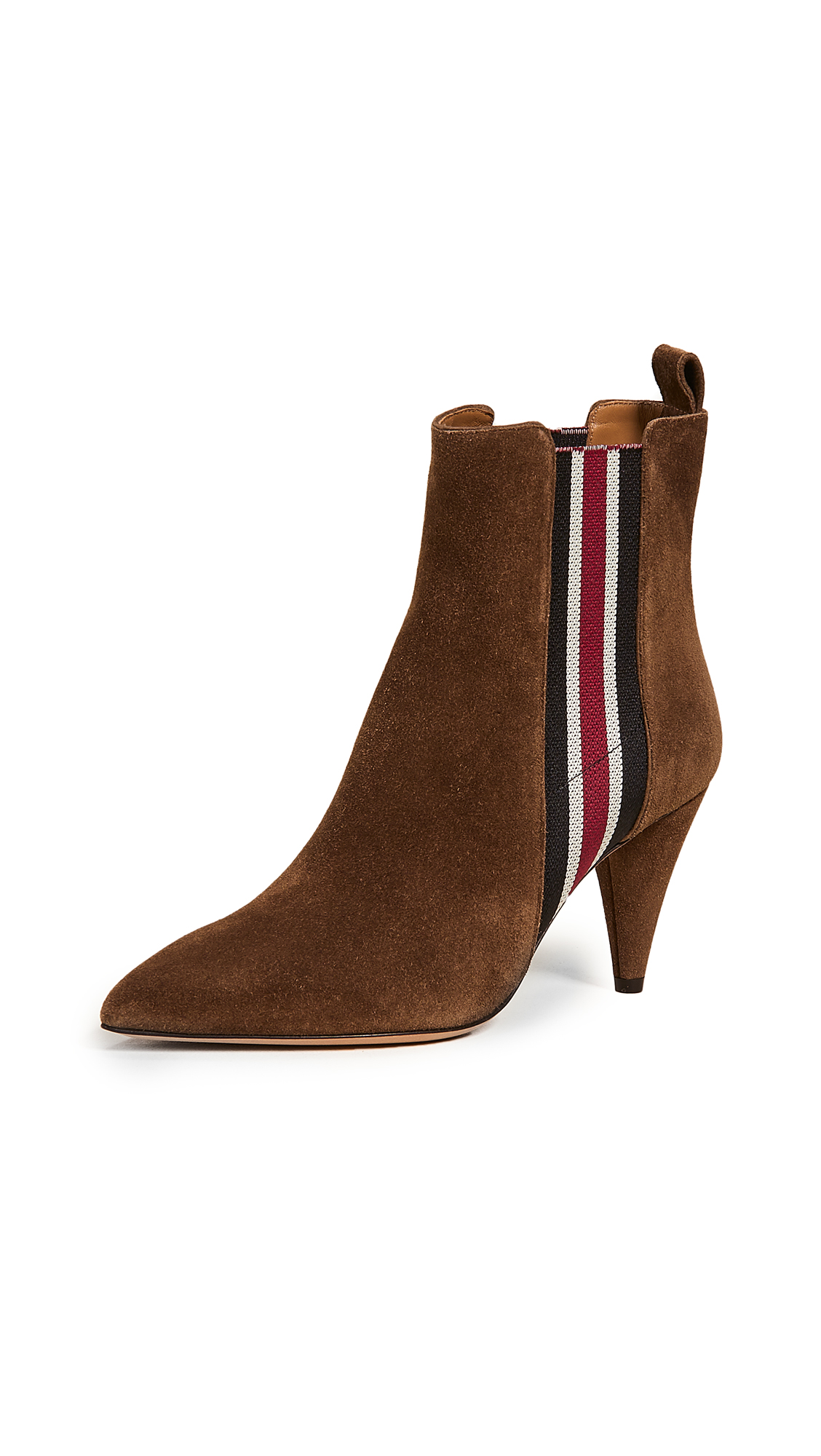 Veronica Beard Flynne Suede Booties - Coconut