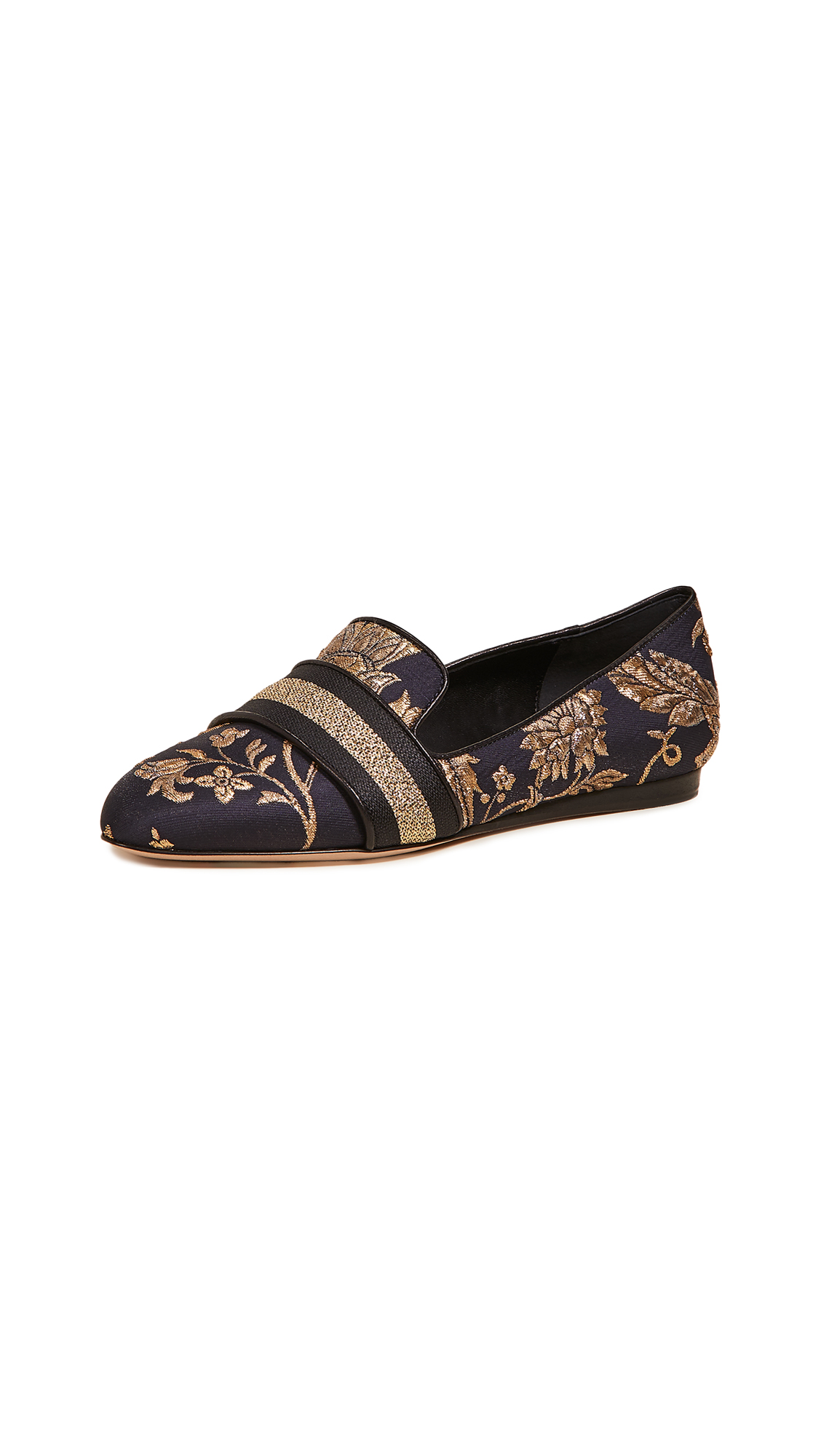 Veronica Beard Griffin Loafers - Graphite/Gold