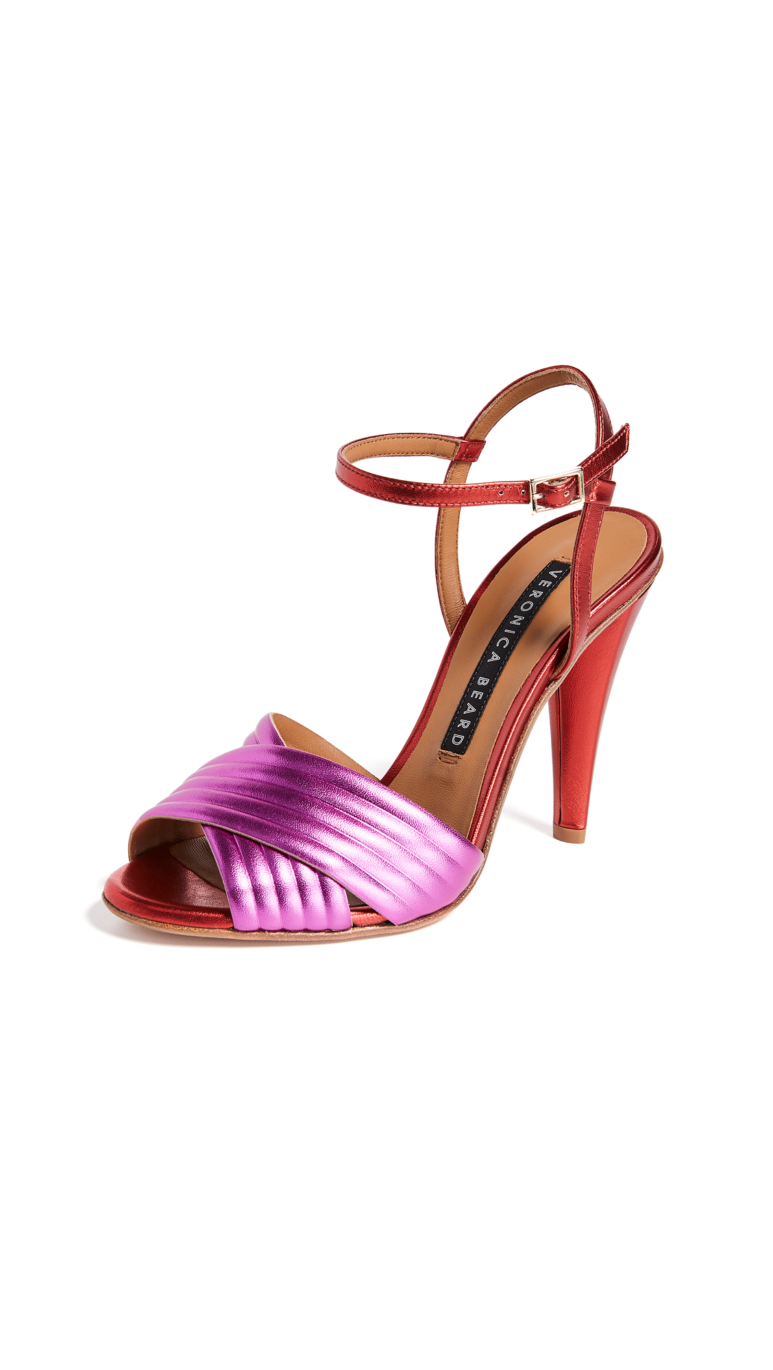Veronica Beard Olympia Sandals - Pink/Red