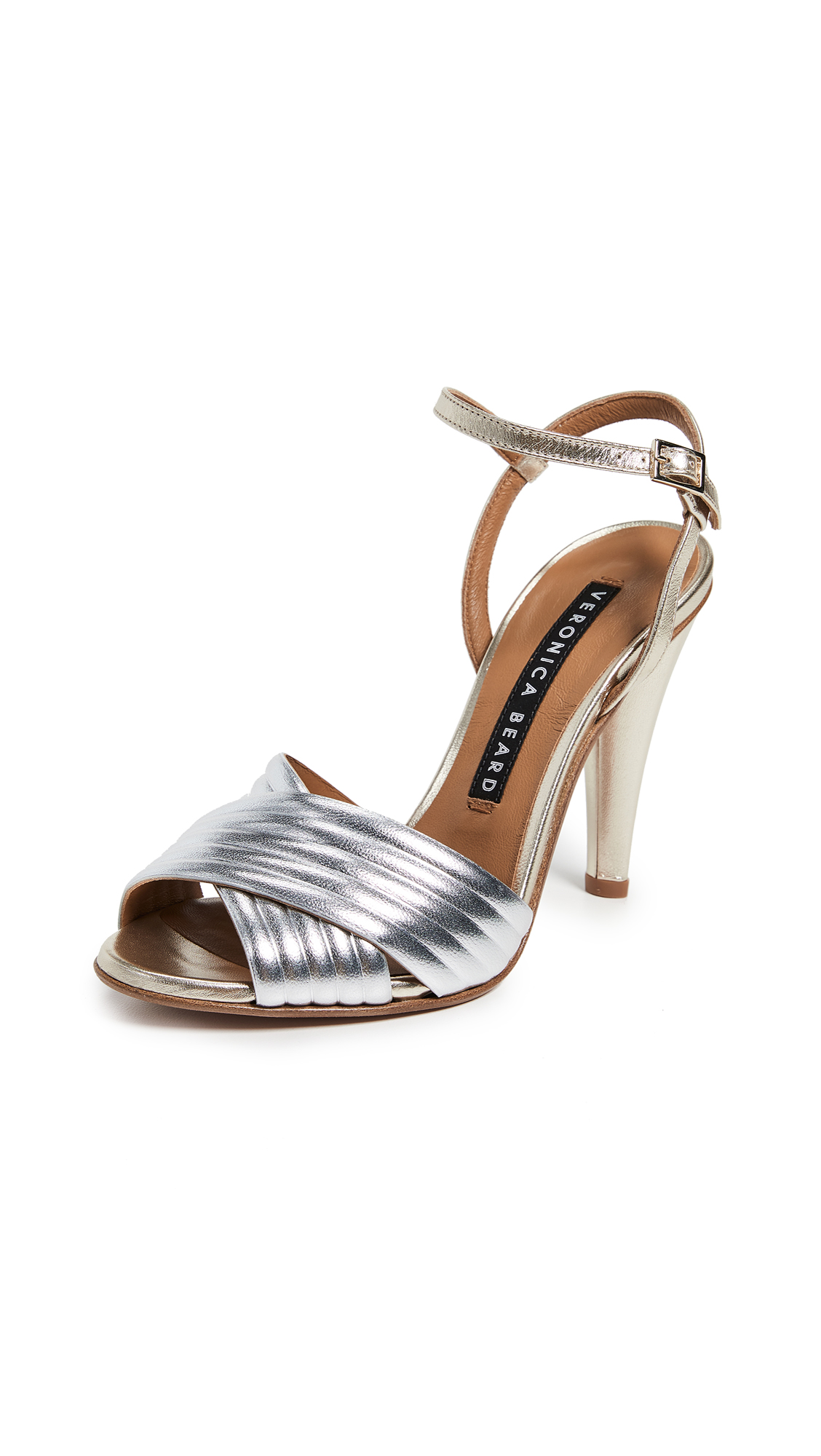 Veronica Beard Olympia Sandals - Silver/Gold