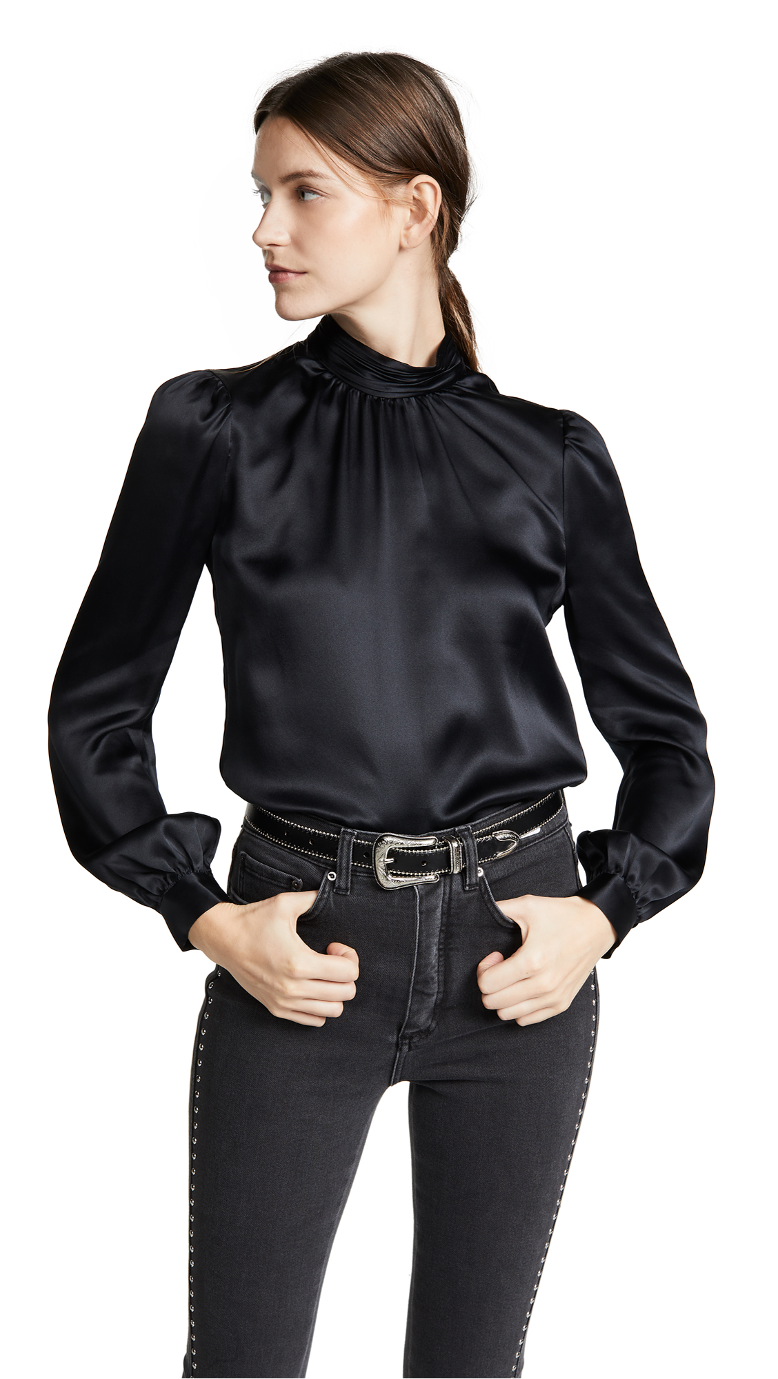 Veronica Beard Chillton Blouse In Black