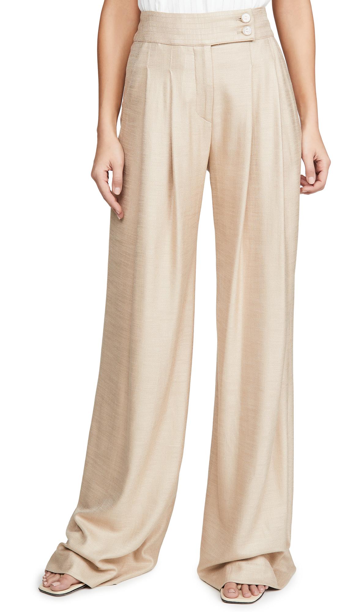 Buy Veronica Beard online - photo of Veronica Beard Elijah Wide Leg Pants