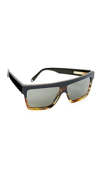 Victoria Beckham Солнцезащитные очки-козырек с плоской верхней частью