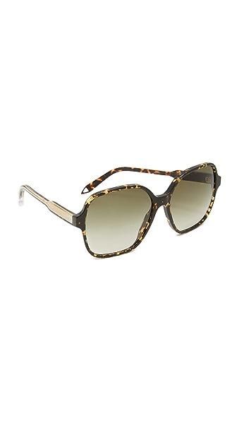Victoria Beckham Солнцезащитные очки Iconic в квадратной оправе
