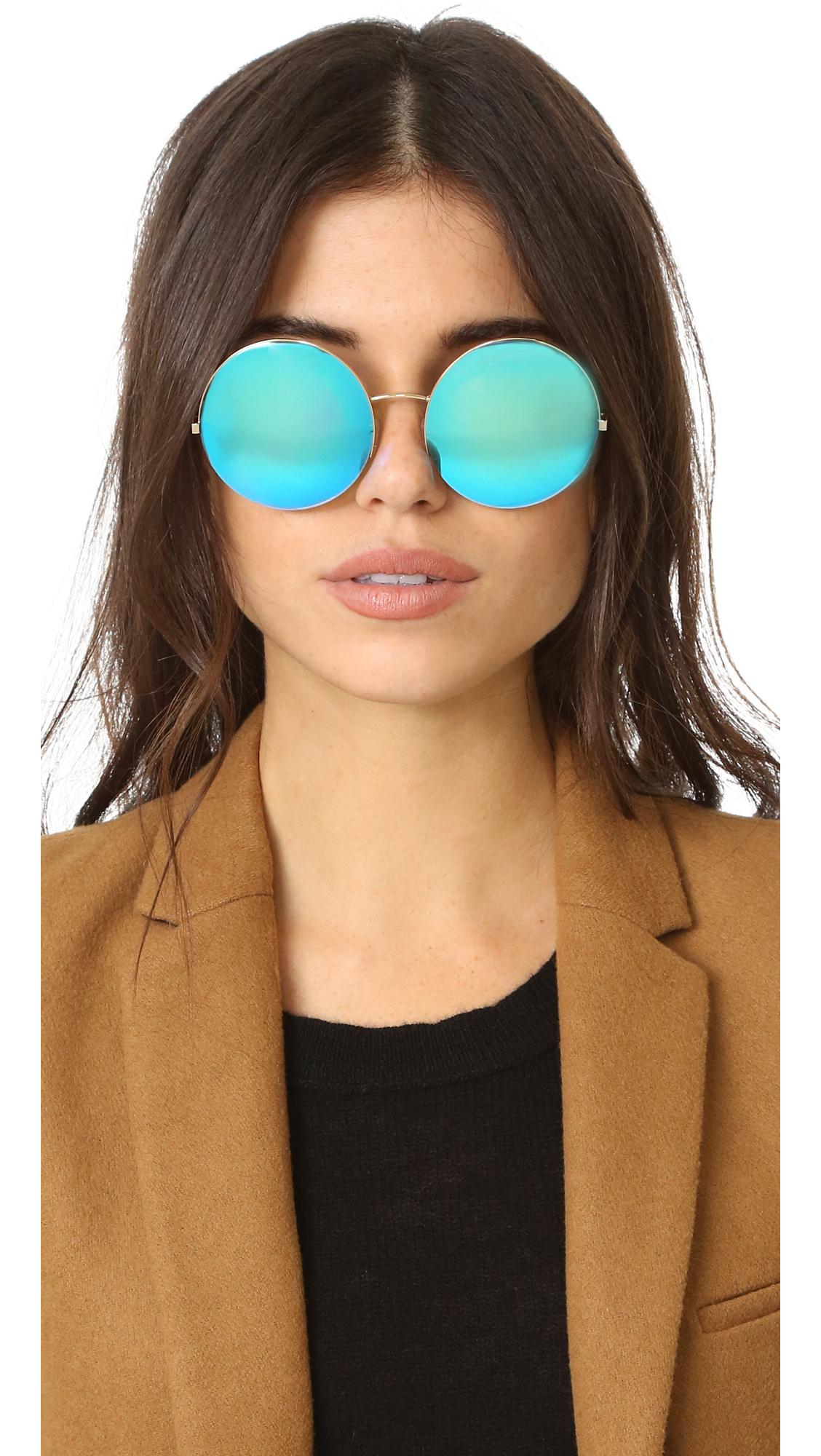 bb83839d141f Victoria Beckham Supra Round Sunglasses