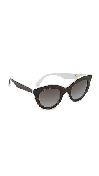 Victoria Beckham Layered Cat Eye Sunglasses