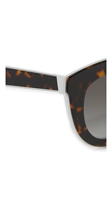 Victoria Beckham Layered Cat Eye Sunglasses