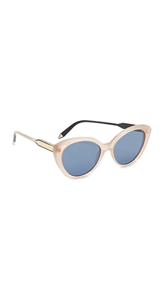 Victoria Beckham Kitten Sunglasses - Milky Taupe/Navy