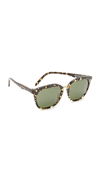 Victoria Beckham Combination Classic Sunglasses - Amber Tortoise/Brown