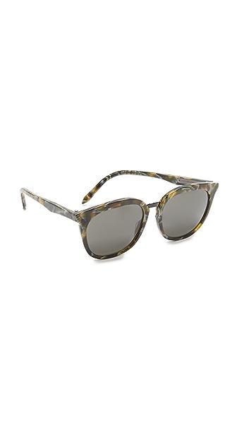 Victoria Beckham Combination Classic Sunglasses - Moss Fleck/Brown