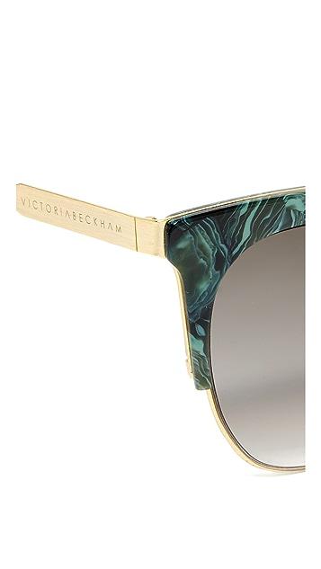 Victoria Beckham Layered Square Sunglasses