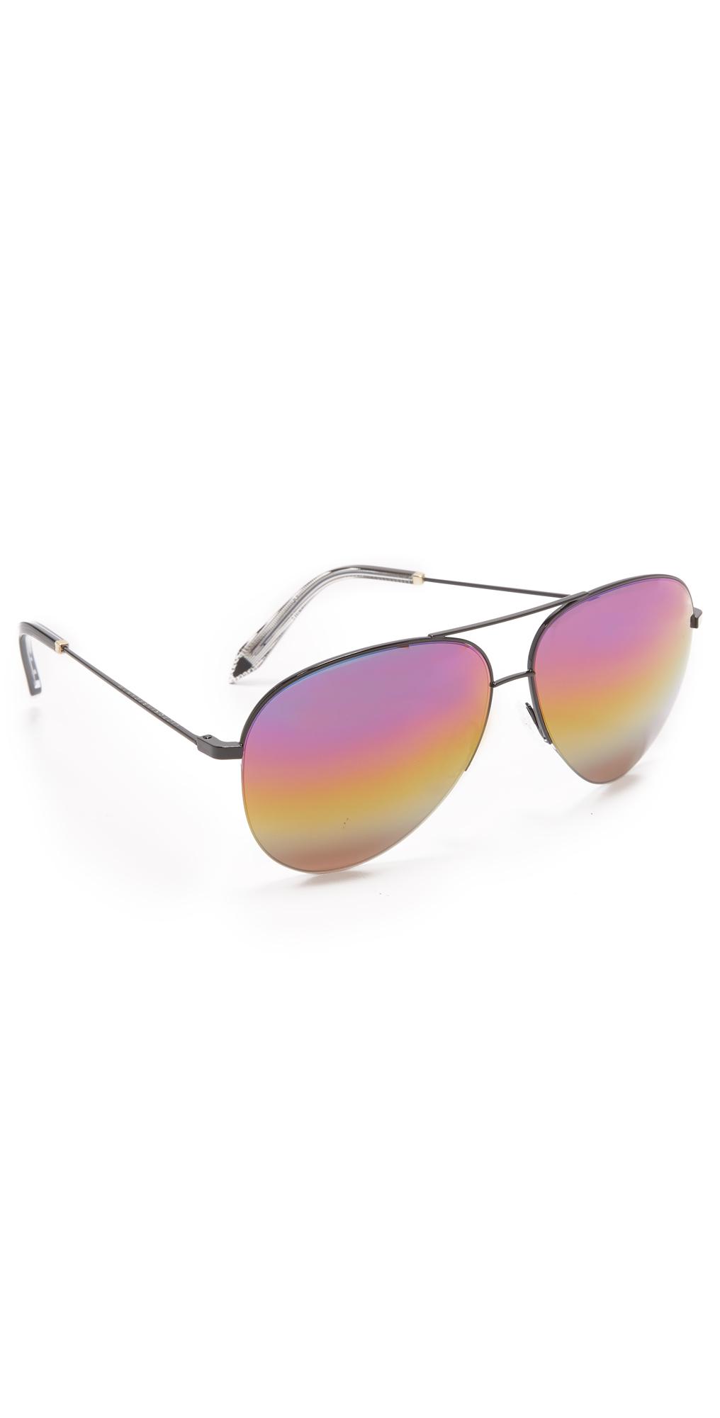 Classic Victoria Aviator Rainbow Sunglasses Victoria Beckham