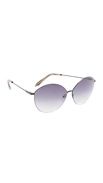 Victoria Beckham Feather Kitten Sunglasses - Black/Navy