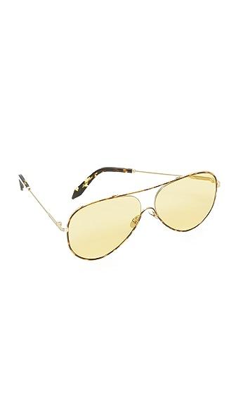 Victoria beckham loop aviator sunglasses in tortoise - Code promo la case du cousin paul ...