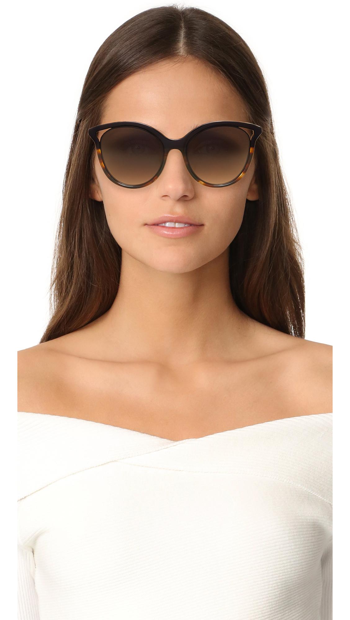 9159b4aee573 Victoria Beckham Cut Away Kitten Sunglasses