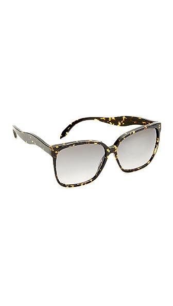 Victoria Beckham Fine Square Wave Sunglasses