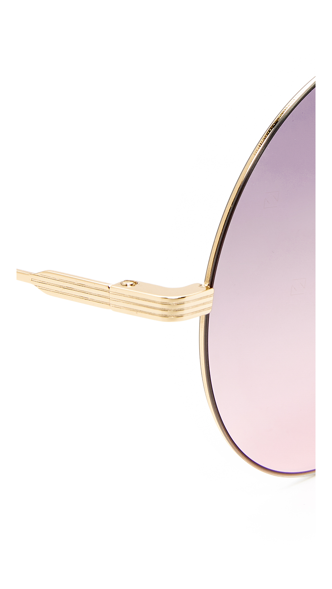 487ae6f87 Victoria Beckham Feather Round Sunglasses | SHOPBOP